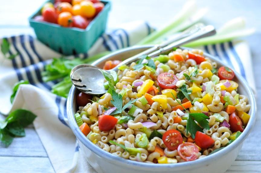 Garden Pasta Salad. A vibrant, healthy pasta salad recipe.