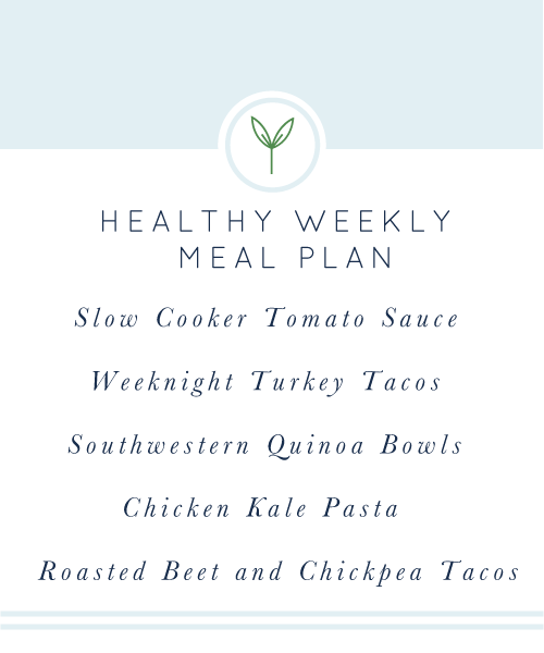 Healthy Weekly Meal Plan. Perfect for summer!