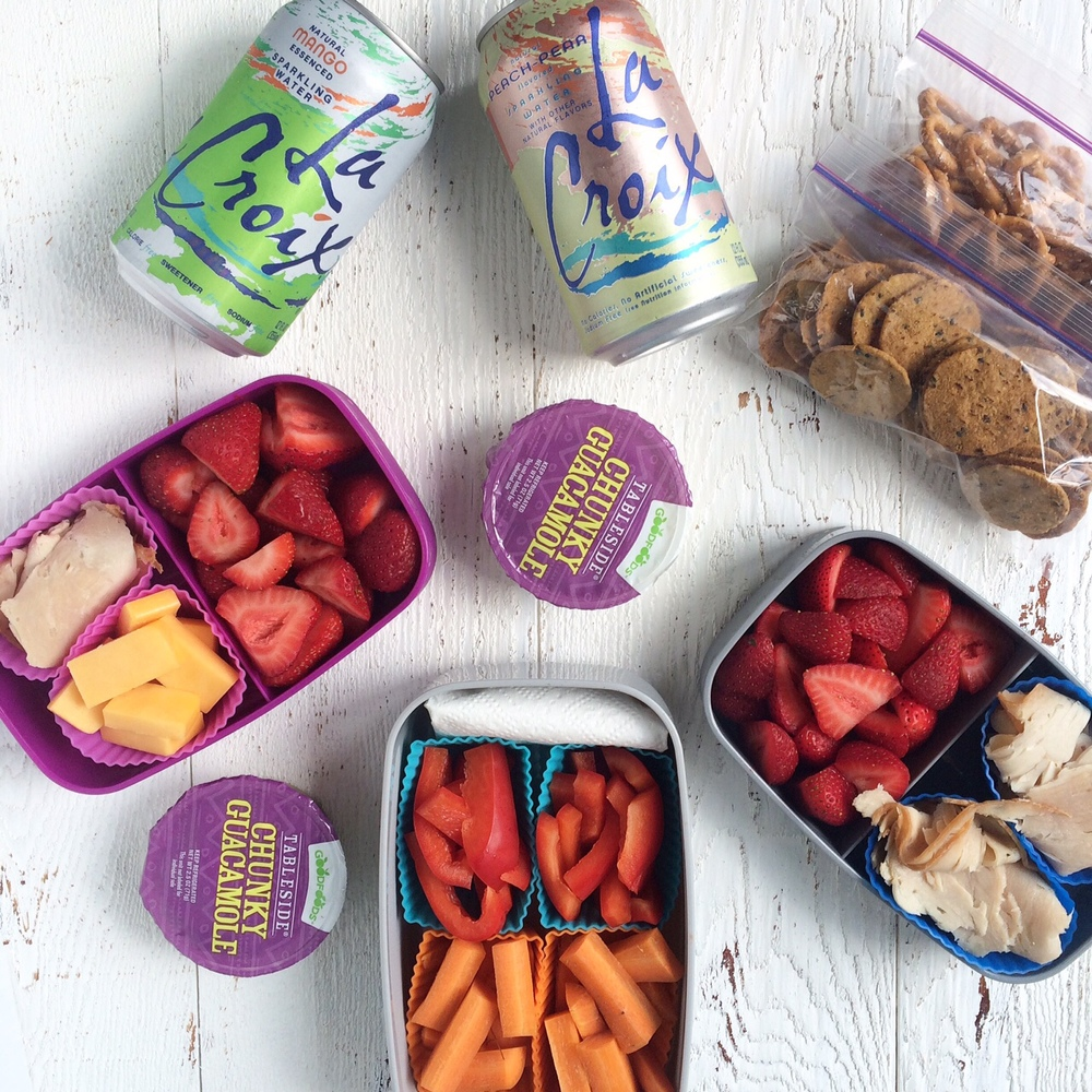 Healthy travel snacks, perfect for a long car trip with the family.
