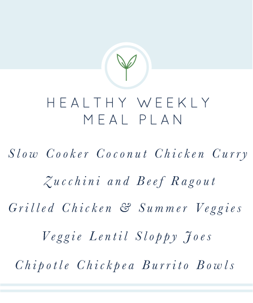 Healthy Weekly Meal Plan from realfoodwholelife.com