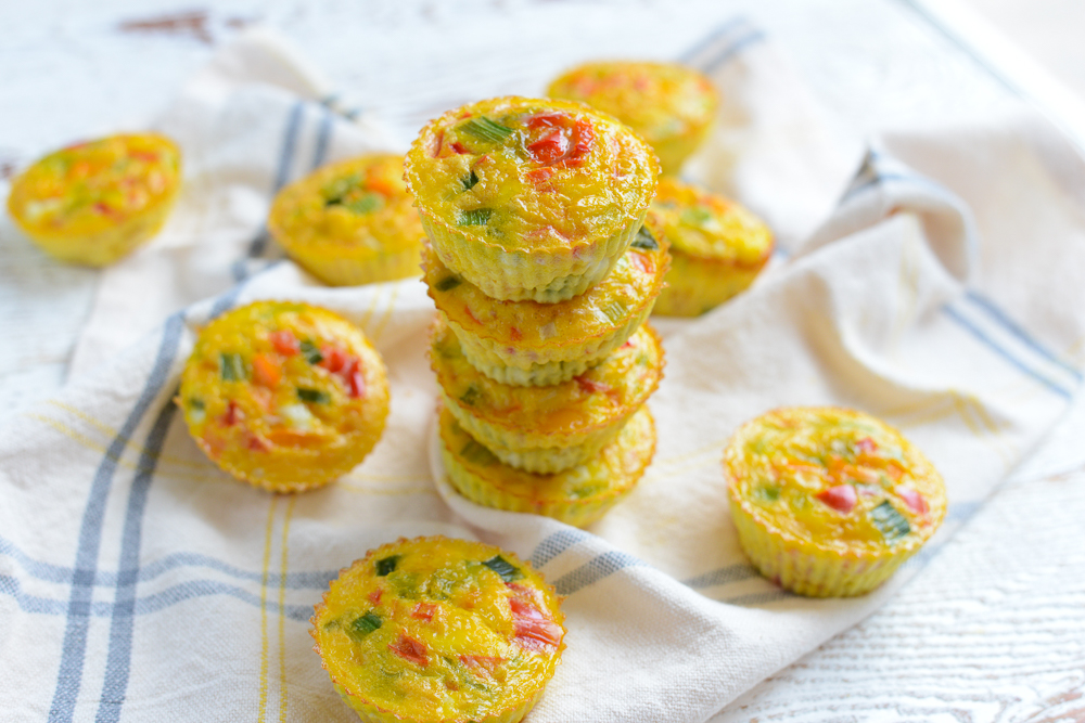 Make Ahead Rainbow Veggie Cups. A quick, healthy, portable breakfast.