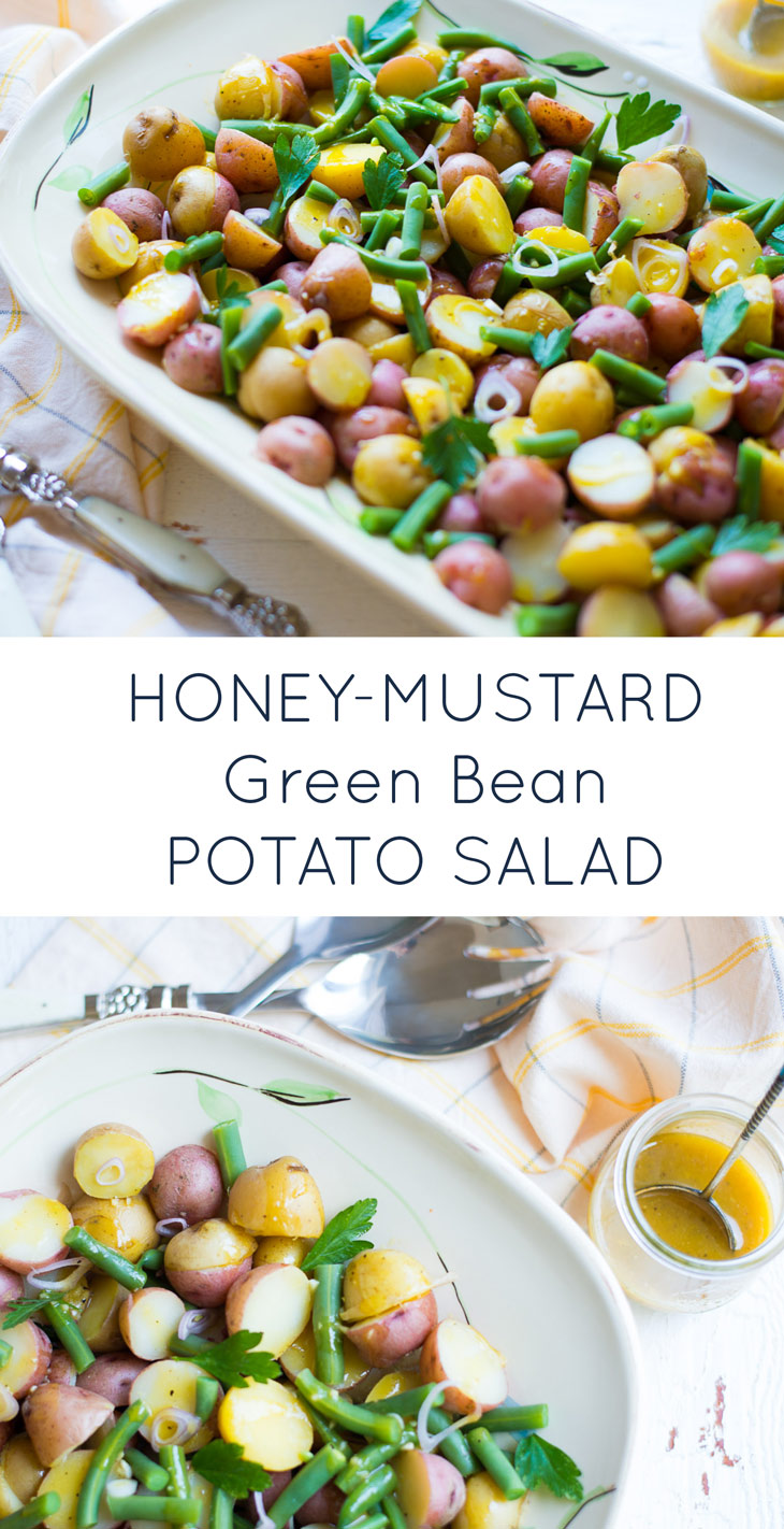 Honey-Mustard Green Bean Potato Salad. A delicious, healthy easy salad recipe.