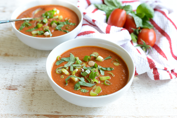 Slow Cooker Creamy Tomato Soup  a simple, healthy, freezable slow cooker recipe.