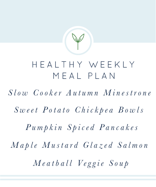 Your Healthy Weekly Meal Plan is here for you! A week's worth of healthy, easy, weeknight meals.