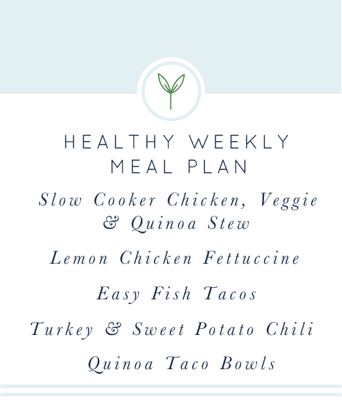 Meal-Plan.pngYour Healthy Weekly Meal Plan is here for you! A week's worth of healthy, easy, weeknight meals.