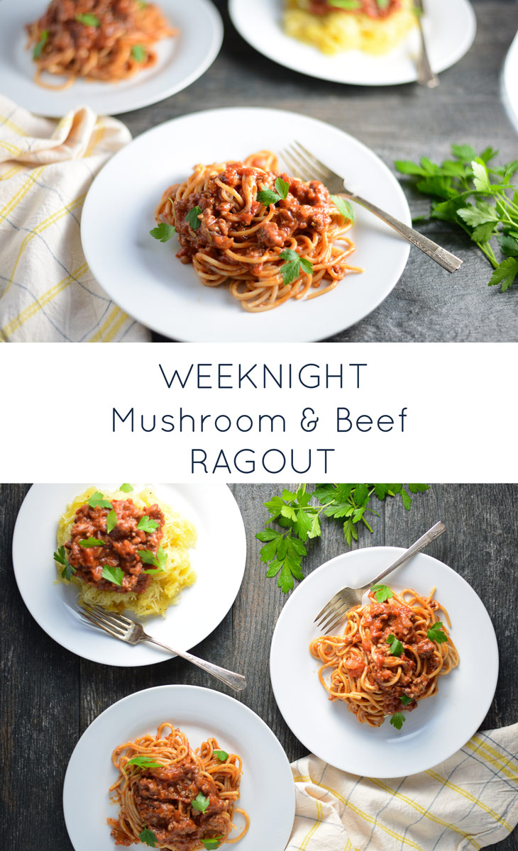 Weeknight Mushroom and Beef Ragout tastes like it has been simmering all day, yet takes less than 30 minutes to make. Naturally gluten- and dairy-free. realfoodwholelife.com