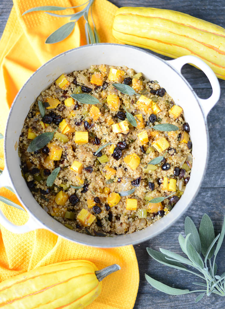 Full of earthy, autumn flavors, One-Pan Autumn Quinoa tastes like Thanksgiving, without all the work. Clean, healthy, using real food ingredients, and naturally gluten-free and dairy-free.
