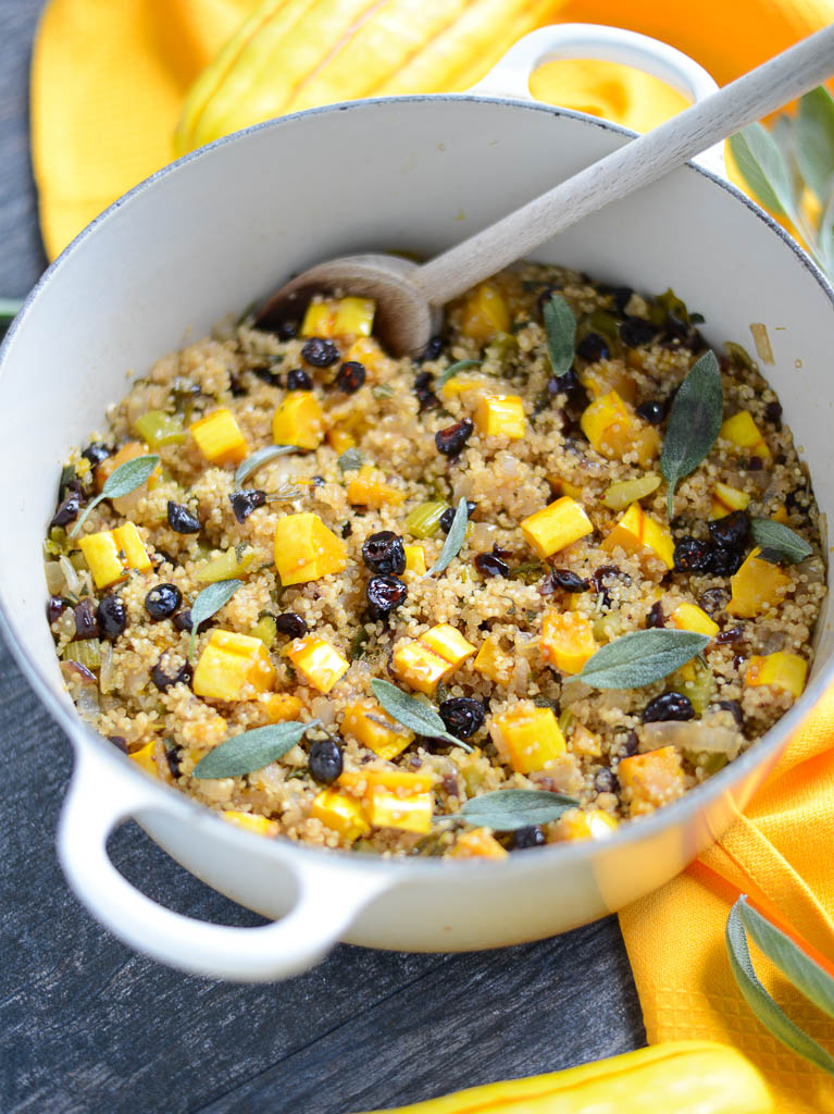 One-Pan Autumn Quinoa Stuffing, perfect for Thanksgiving Day!