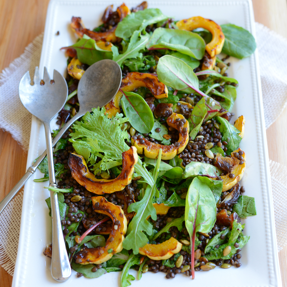 Autumn Lentil Salad, perfect for Thanksgiving Day!