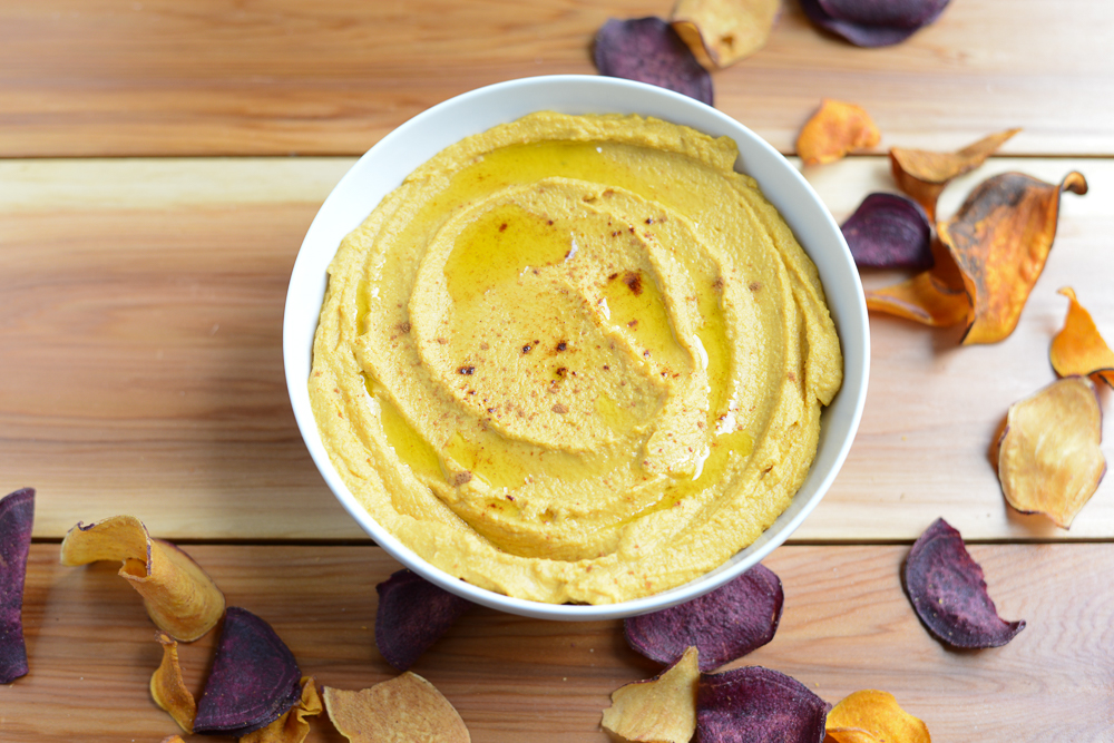 Pumpkin Hummus, a perfect, simple dip for Thanksgiving Day!
