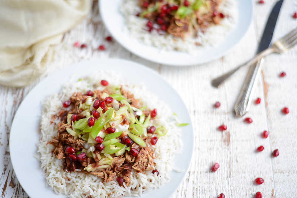 Slow Cooker Pomegranate BBQ Chicken