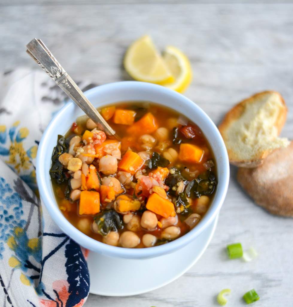 10ingredient Slow Cooker Vegetable And Quinoa Stew Is A Hearty, Vegetarian  Meal That's