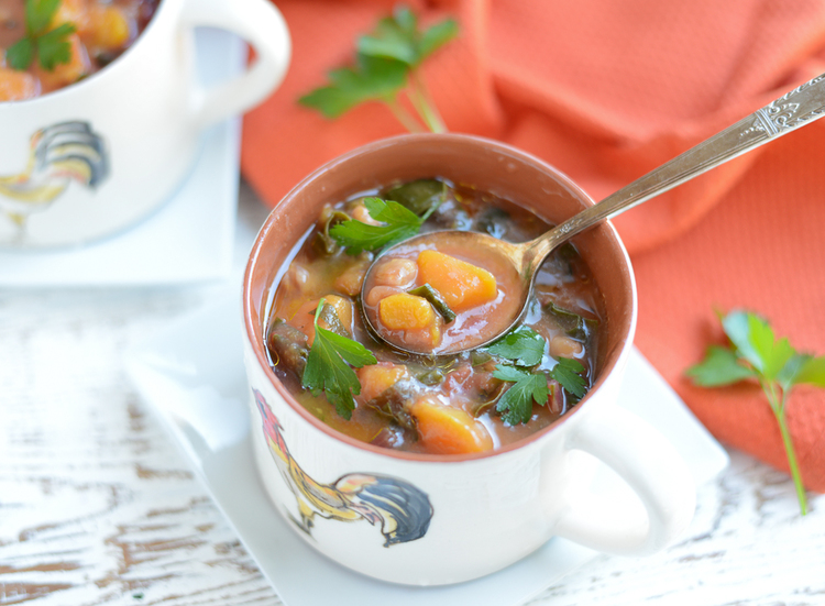Slow Cooker Autumn Minestrone