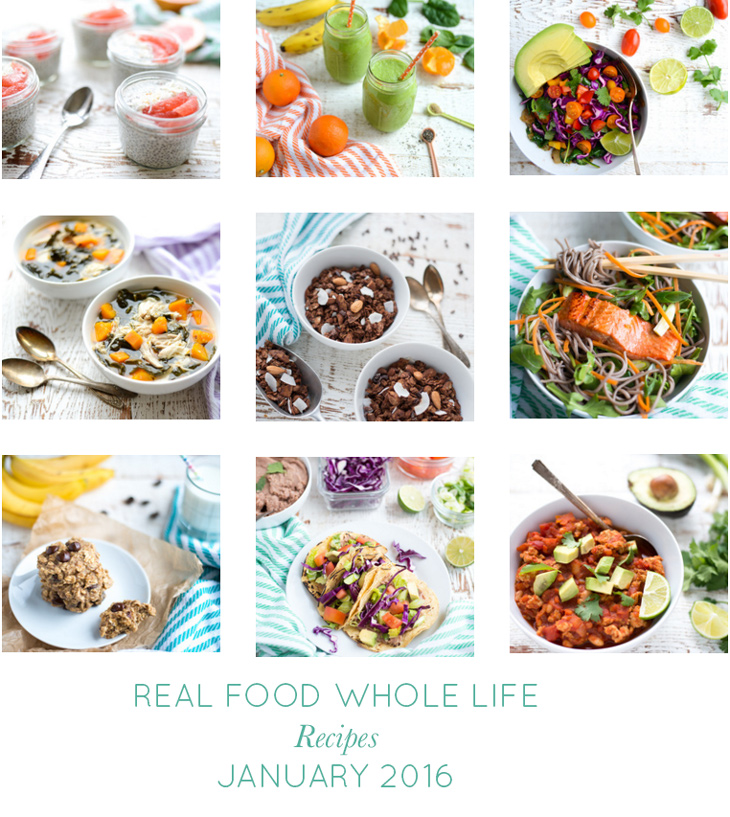 Real Food Whole Life Recipes January 2016