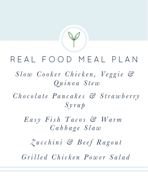 Real Food Meal Plan