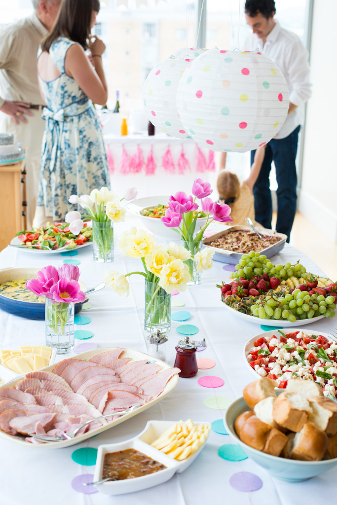 Everything you need to know to host a real food baby shower brunch party: the simple menu, recipes, details on creating the quintessential DIY prosecco and soda water bar, the make-ahead game plan, and perfect gift basket for the mama-to-be.