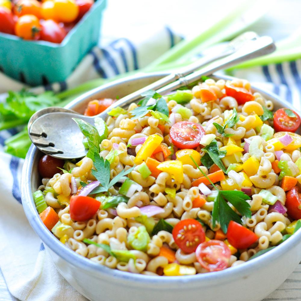 Garden Pasta Salad With Homemade Italian Dressing