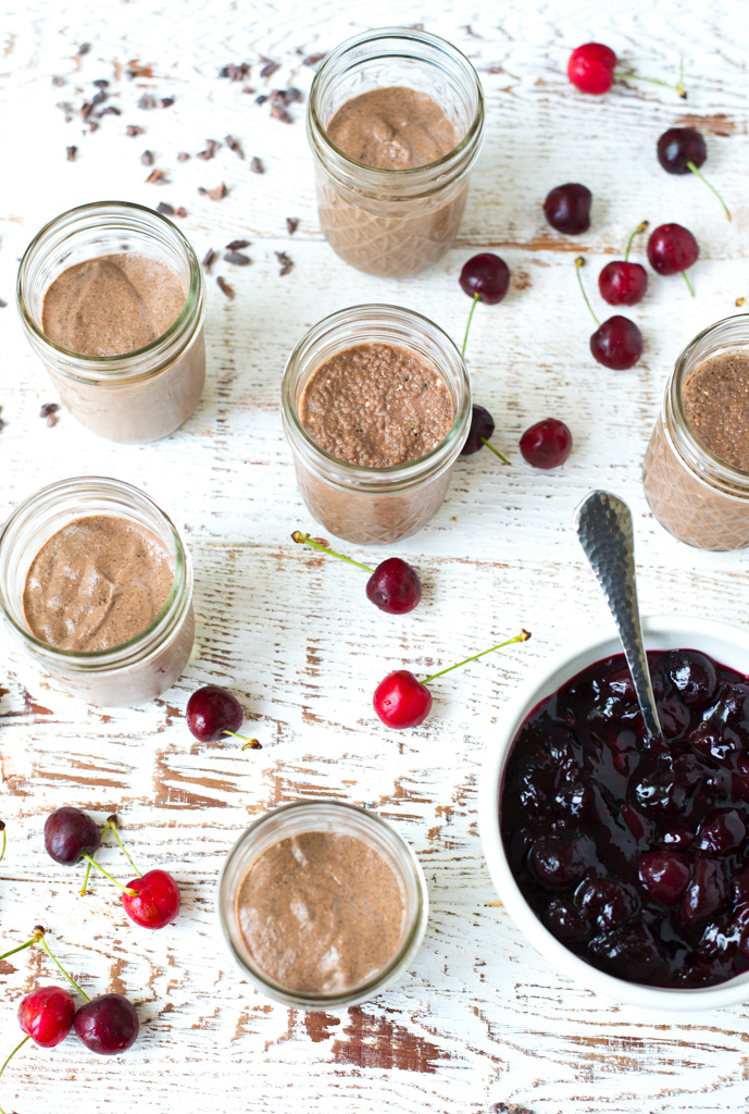 A decadent grab-and-go breakfast or snack, Cherrie Jubilee Chocolate Chia Seed Pudding is simple to make and tastes like a splurge. Made with fresh or frozen cherries, this easy and tasty pudding is the perfect protein packed, make-ahead meal!