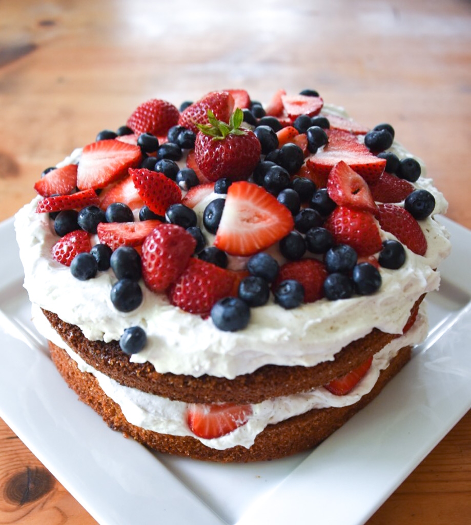 The quintessential summer dessert, Naturally Red, White, and Blue Berry Shortcake is simple to make with stunning results. Naturally gluten-free, dairy-free, and refined sugar-free, this recipe is a must for your next summer gathering!