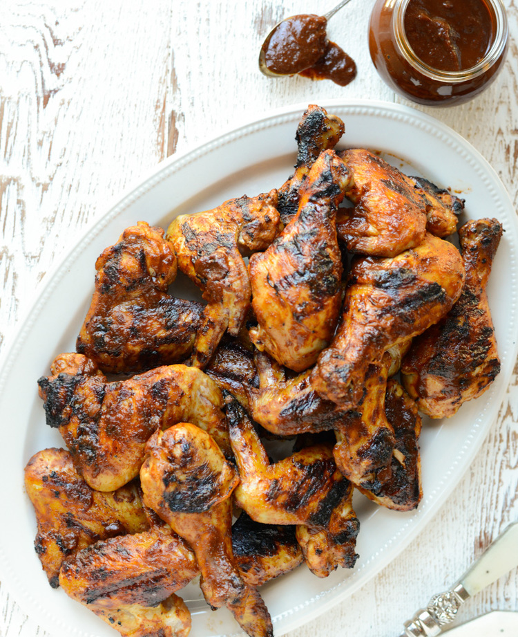 Grilled Bbq Chicken With Naturally Sweetened Sauce Real Food Whole