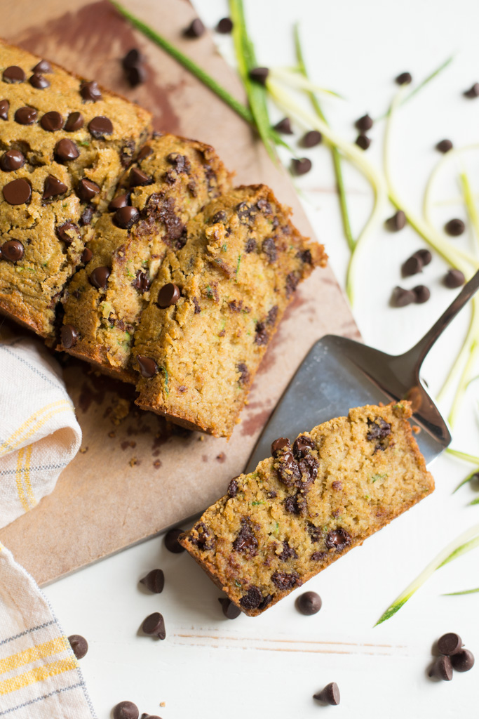 One bowl chocolate chip zucchini bread gluten free dairy free perfectly tender and slightly sweet one bowl chocolate chip zucchini bread comes together in forumfinder Image collections