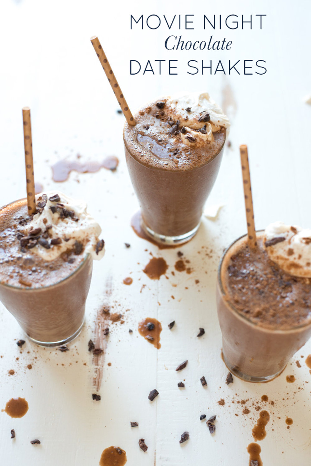 Perfect for movie night or any night, Movie Night Chocolate Date Shakes are naturally sweetened, completely dairy-free, and taste amazing!