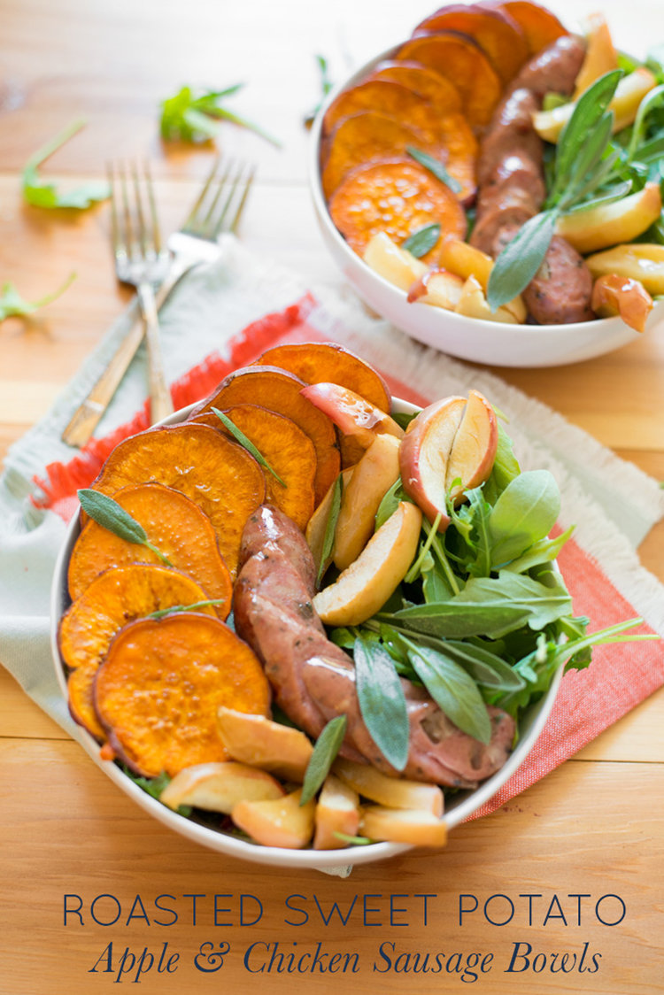 Roasted sweet potato apple and chicken sausage bowls real food simple to prepare in just one pan roasted sweet potato apple and chicken forumfinder Image collections