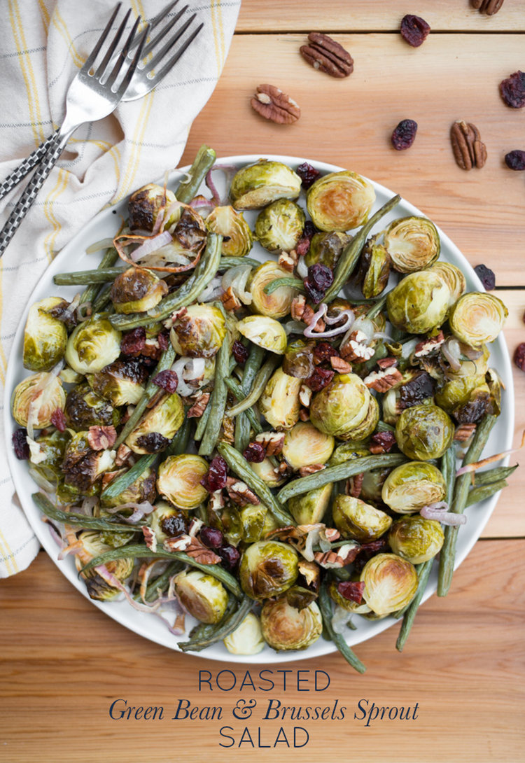 A Simple Warming Autumn Salad Roasted Green Bean Brussels Sprout Salad Is