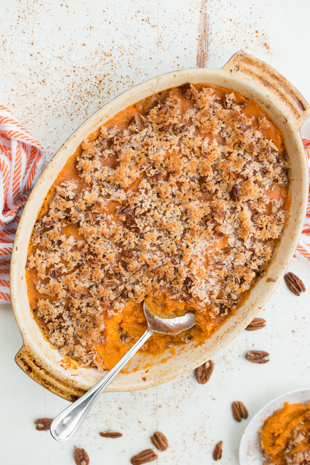 Sweet, rich and easy to prepare, Sweet Potato Casserole (Grain-Free, Dairy-Free) is naturally grain-free, gluten-free, dairy-free, naturally sweetened and completely satisfying.