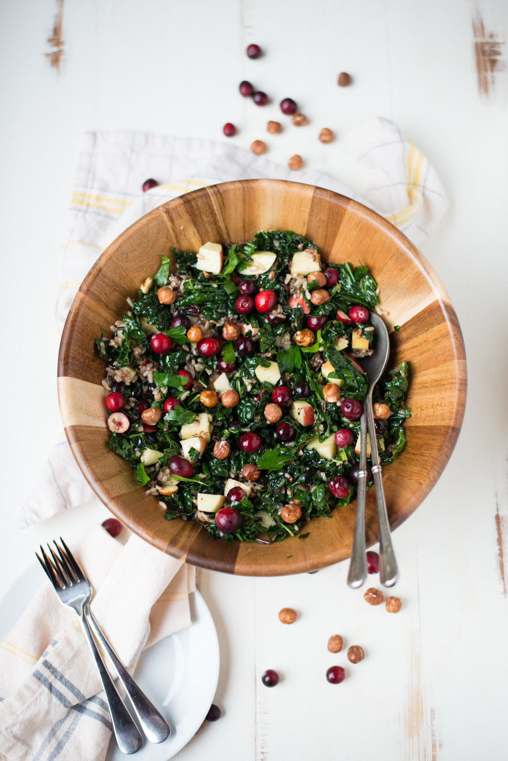 Bright, fresh, and easy to prepare, Northwest Celebration Kale Chopped Salad is full of fresh flavors and is perfect for the holiday table to any night of the week!