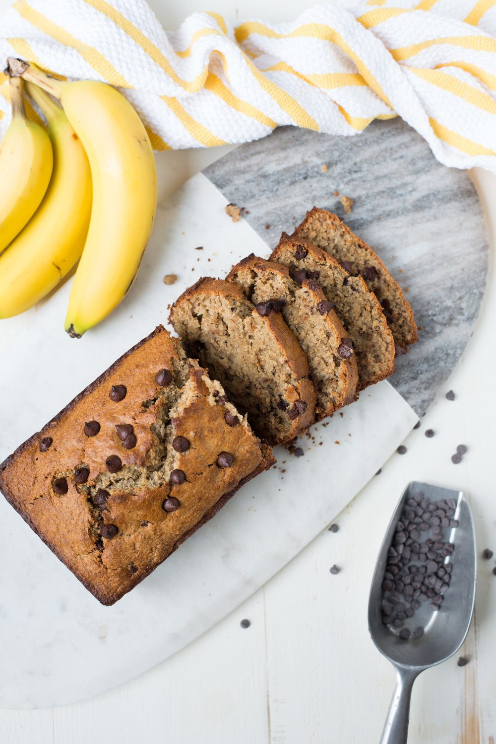 Tender, perfectly sweet, and easy to make, One-Bowl Chocolate Chip Banana Bread is simple to whip up and just the thing for breakfast or as an afternoon snack.