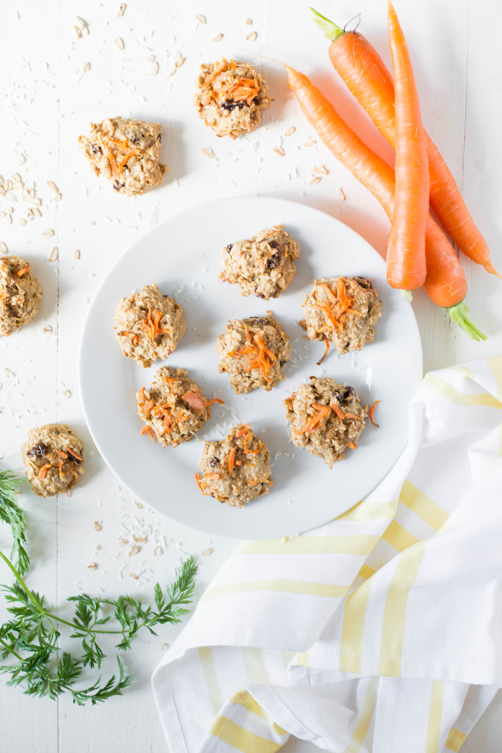 Naturally sweet and packed with plant goodness, One-Bowl Carrot Cake Breakfast Cookies are perfect for breakfast on-the-go or as a sweet snack anytime!