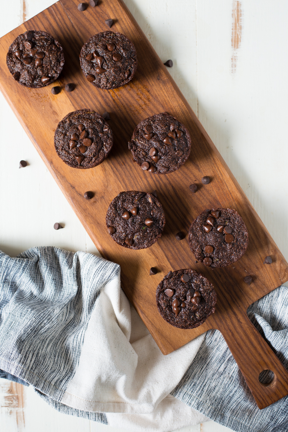 Decadent, rich, and made without a hint of flour or refined sugar, One-Bowl Flourless Double Chocolate Zucchini Muffins are easy to make and the perfect everyday treat!