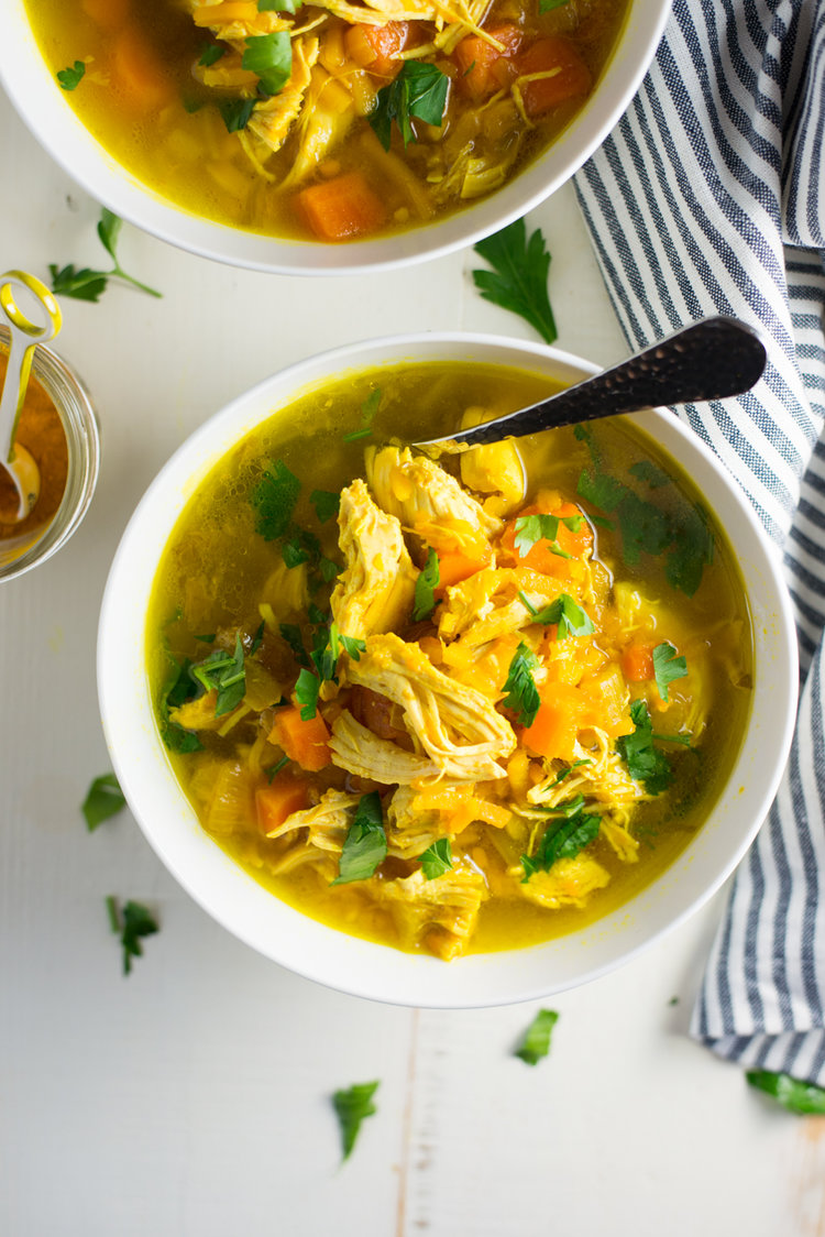 Instant Pot Slow Cooker Turmeric Chicken No Noodle Soup Real