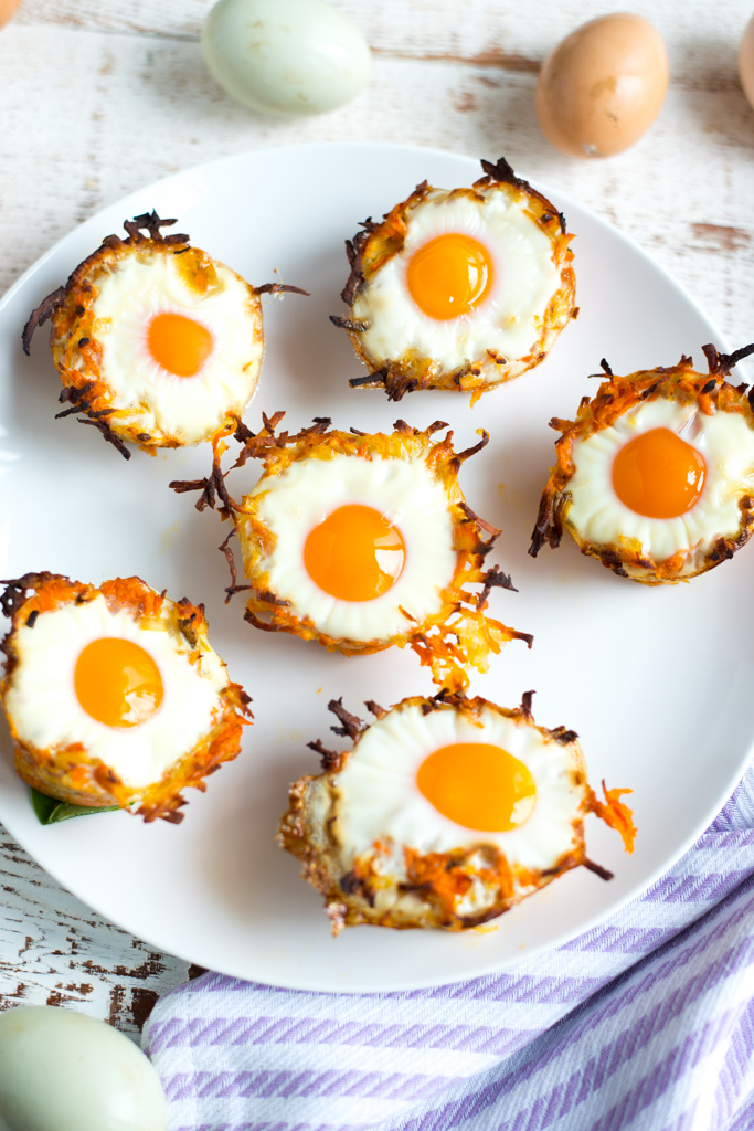 A fun and delicious make-ahead recipe, Sweet Potato Hash Brown Egg Nests are perfect for brunch, breakfast, or quick snack.