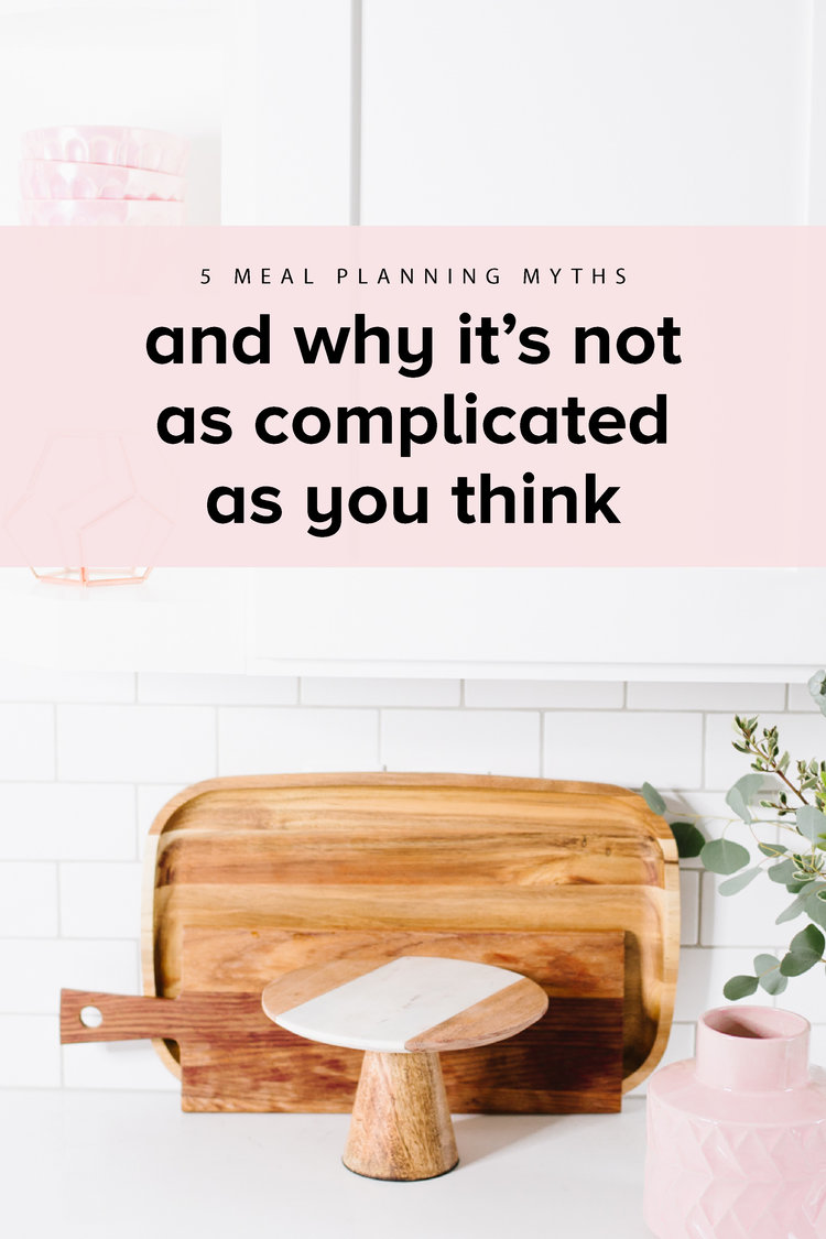 Common meal planning myths, and how to simplify your meal plan process. #realfoodwholelife #realfoodwholelifesimplify #mealplanning #cleaneating  #mealplan #mealplansunday #healthyeating #cleaneating