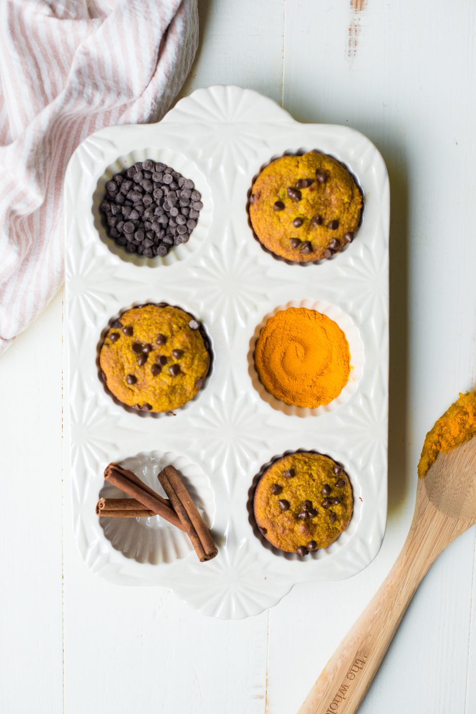 One-Bowl Golden Glow Turmeric Flourless Muffins are packed with nourishing ingredients, like anti-inflammatory turmeric, and make a naturally sweet and healthy breakfast or snack anytime! Naturally gluten-free, dairy-free, grain-free and naturally sweetened. #realfoodwholelife #realfoodwholeliferecipe #glutenfree #dairyfree #paleo #glutenfreerecipe #paleorecipe #healthy #healthyrecipe #cleaneating #lowsugar #grainfree #turmeric #antiinflamatory #muffins #snack #breakfast