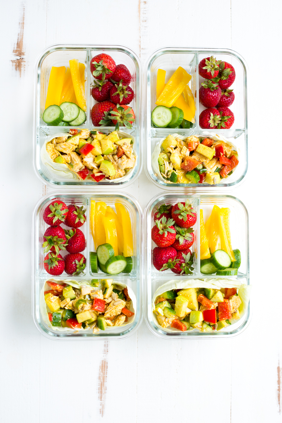 Meal Prep Golden Glow Chicken Salad is an easy, healthy make-ahead meal that you can prep ahead and take on the go. Make it with chicken, or any protein you like! #realfoodwholelife #realfoodwholeliferecipe #recipe #mealprep #whole30 #whole30recipe #paleo #paleorecipe #glutenfree #dairyfree #healthy #healthyrecipe #easyrecipe #quickrecipe #lunch #mayofree #nutfree #eggfree
