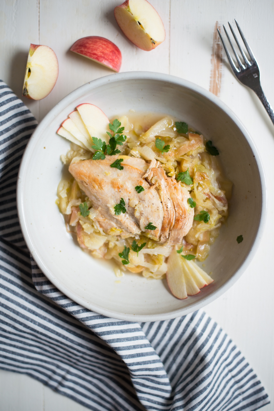 Instant Pot Chicken, Apples & Cabbage is a super simple one-pot meal that's packed with flavor, but with little prep or fuss. A gluten-free, dairy-free, paleo, whole30 recipe. #realfoodwholelife #realfoodwholeliferecipe #recipe #dinner #paleo #paleorecipe #glutenfree #grainfree #dairyfree #healthy #healthyrecipe #easyrecipe #quickrecipe #instantpot #whole30 #whole30recipe #chicken #chickenrecipe #chickeninstantpot