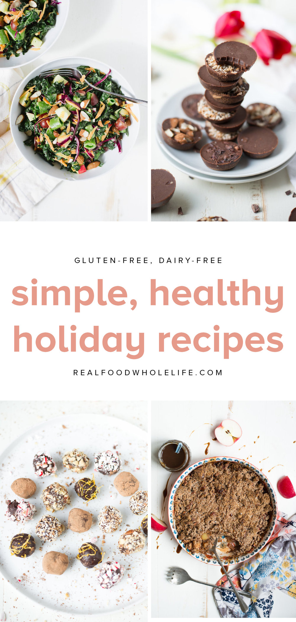 21 gluten-free, dairy-free, refined sugar-free holiday recipes perfect for Christmas. #glutenfree #dairyfree #holiday #healthyholiday #recipe #roundup #realfoodwholelife #refinedsugarfree #grainfree #christmas #winterrecipes
