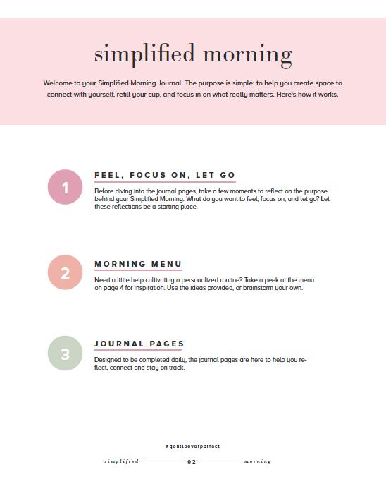 Simplified Morning Journal