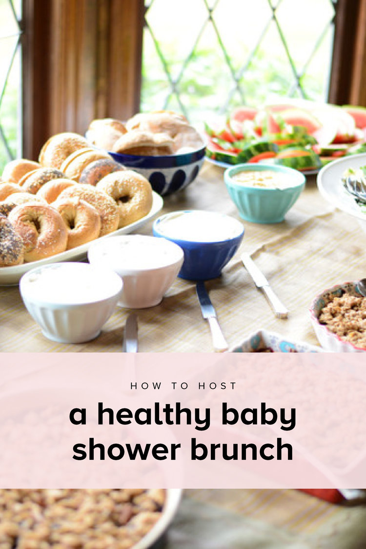 Tips and recipes for hosting a healthy baby shower brunch. Gluten-free and  dairy