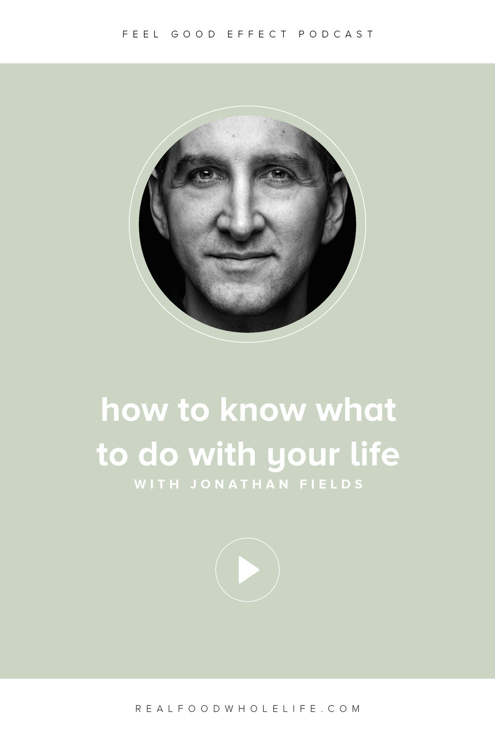 How to know what to do with your life, a conversation with best-selling author Jonathan Fields on the Feel Good Effect podcast. #feelgoodeffect #realfoodwholelife #wellnesspodcast #healthy #podcast #purpose #gentleisthenewperfect