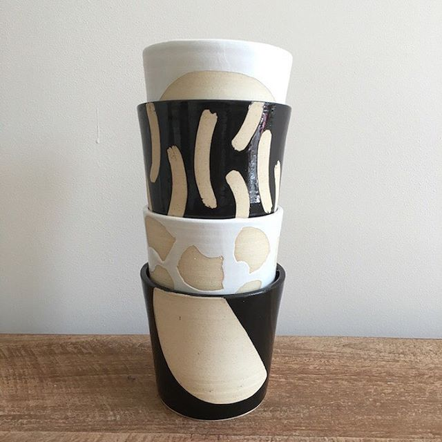 Summer is here, so why not brighten up your home with these beautiful handmade planters. The monochrome colour scheme will make the pretty colours of your plants appear even more vivid! They have been handmade by the talented Hannah in her garden studio in North London. Each planter is unique, creating a special personal touch to your home. #sustainableliving #giftshop #ethical #eco #sustainable #organic #organiccotton #organicliving #chemicalfree #fairtrade #homewares #interiorinspiration #interior_design #homesinterior #ecofriendly #naturalliving #handmadeaccessories #handmadeshop #shophandmade #handmadegifts #homeinterior #interiordecorating #bowl  #madeinlondon #ceramics #planters #planters #pots #plantpot #monochromemaves