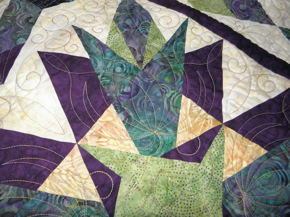 Cactus Bloom Quilting 1
