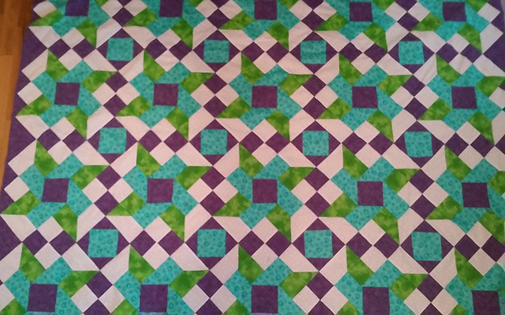 Sue McConnell's Finished Quilt Top