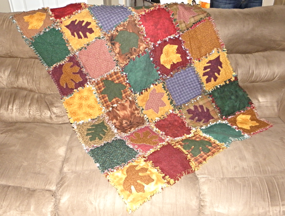 Fall Leaves Rag Quilt