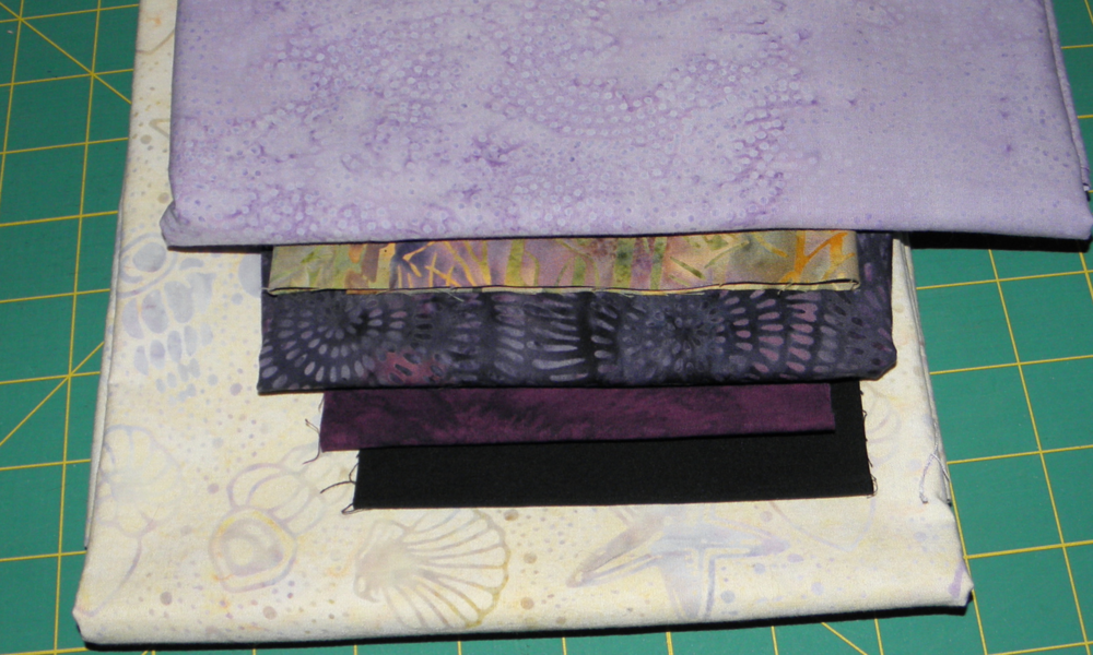 Final purple fabric selection.