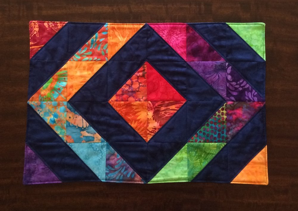 Kennel Quilt made with Empress Garden fabric.