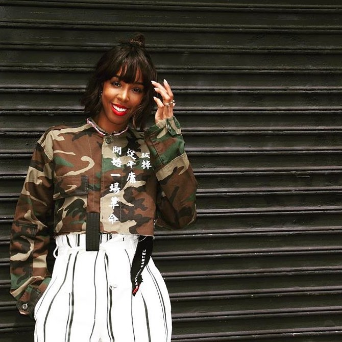 Kelly Rowland in Babylon Cartel designs